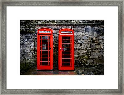 British Telephone Boxes Framed Print by Dutourdumonde Photography