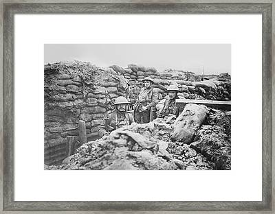 British Trench Framed Print by Library Of Congress