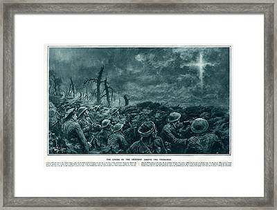 British Troops See The Cross Of Jesus Framed Print by  Illustrated London News Ltd/Mar