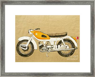 British Two Stroke Framed Print by Stephen Brooks