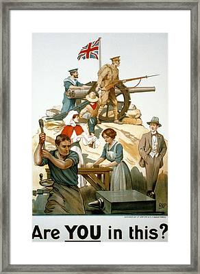 British World War I Poster 1917 Framed Print by Robert Baden Powell