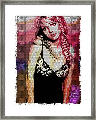 Britney - Pretty In Pink Framed Print by Absinthe Art By Michelle LeAnn Scott