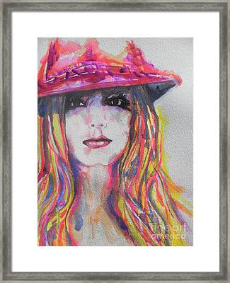 Britney Spears Framed Print by Chrisann Ellis