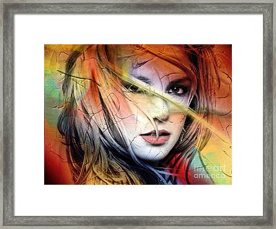 Britney-spears Framed Print by Mark Ashkenazi