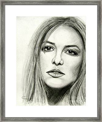 Framed Print featuring the drawing Britney Spears by Patrice Torrillo