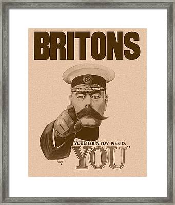 Britons Your Country Needs You  Framed Print by War Is Hell Store