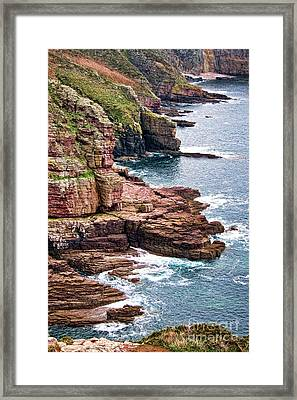 Brittany Coast Framed Print by Olivier Le Queinec