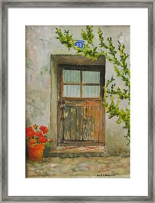 Brittany  Door Framed Print by Mary Ellen Mueller Legault