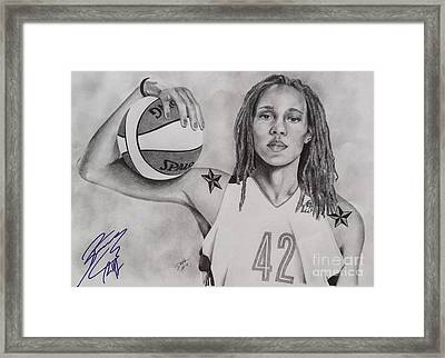 Brittney Griner Strength Framed Print
