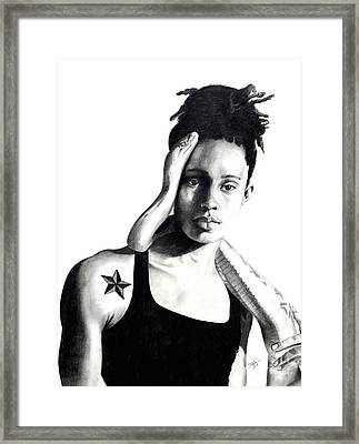 Brittney Griner Taboo Framed Print by Devin Millington