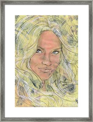 Brittney Framed Print by P J Lewis