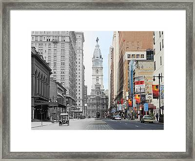 Broad And Locust Framed Print