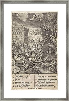 Broad And Narrow Road, Hieronymus Wierix Framed Print