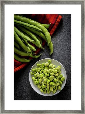 Broad Beans In A Bowl Framed Print