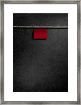 Broad Clothing Label In Black Leather Framed Print