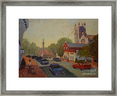 Broad St Westfield  Framed Print by Monica Caballero