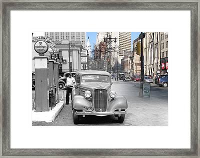 Broad Street Socony Framed Print