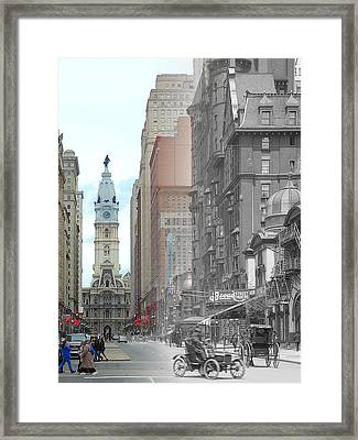 Broad Street Theatre Framed Print
