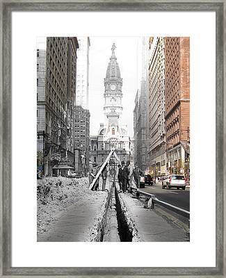 Broad Street Water Pipe Framed Print