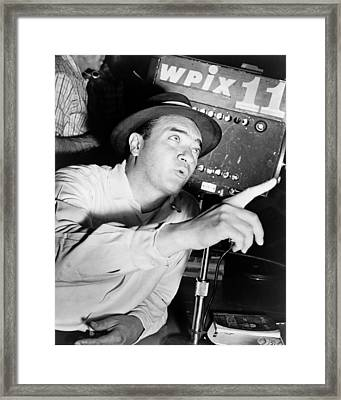 Broadcaster Mel Allen 1955 Framed Print by Mountain Dreams