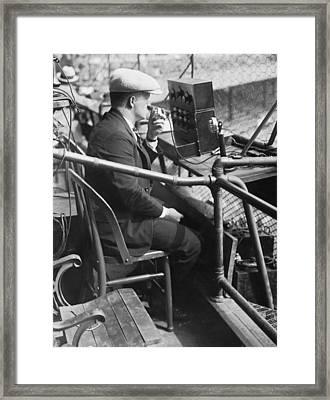 Broadcasting 1924 World Series Framed Print