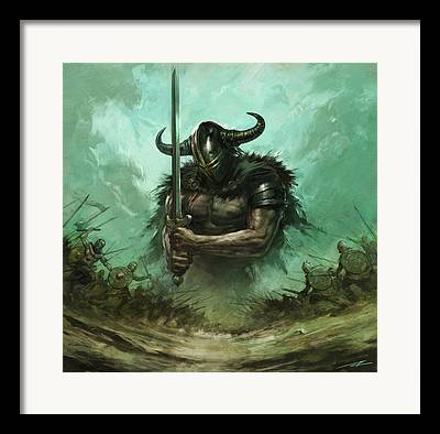 Warcraft Paintings Framed Prints