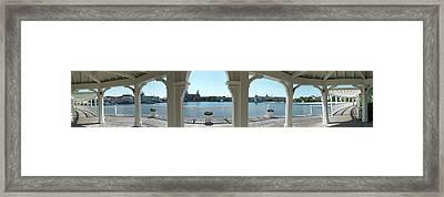 Broadwalk Gazebo Panorama Walt Disney World Framed Print