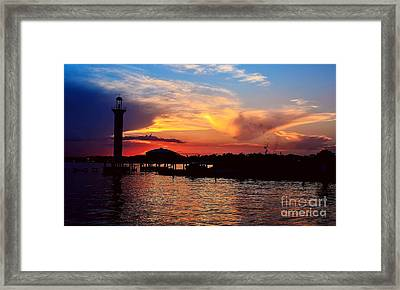 Framed Print featuring the photograph Broadwater Biloxi by Maddalena McDonald