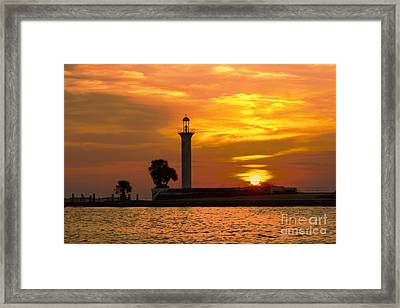 Broadwater Lighthouse Framed Print