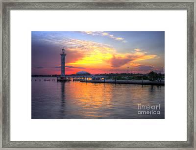 Broadwater Marina Framed Print