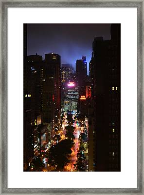 Broadway And 72nd Street At Night Framed Print