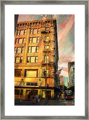 Broadway And Ninth Facing West Framed Print