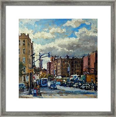 Broadway Backlight New York City Framed Print by Thor Wickstrom