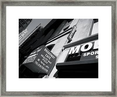 Framed Print featuring the photograph Broadway Cafe by Paul Foutz