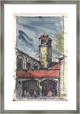 Framed Print featuring the mixed media Broadway Church Of Christ Study by Tim Oliver