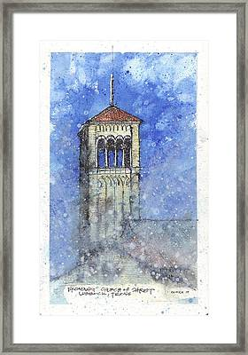 Broadway Church Tower Framed Print by Tim Oliver