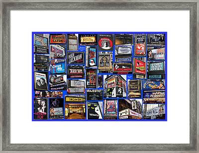 Broadway Collage Framed Print by Steven Spak