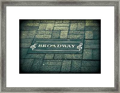 Broadway Framed Print by Dan Sproul