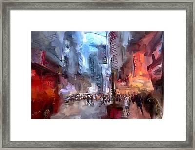 Broadway Nights Framed Print