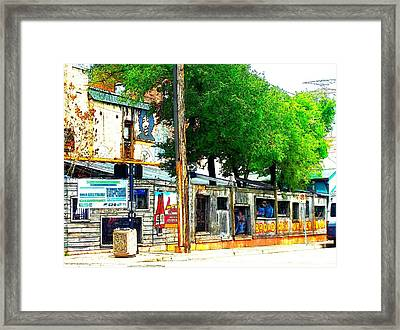 Broadway Oyster Bar With A Boost Framed Print