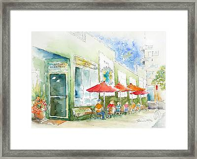 Broadway Roastery Framed Print