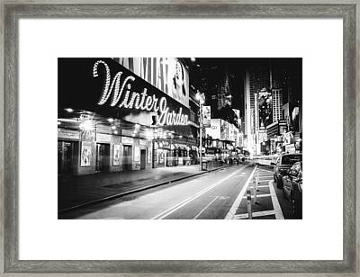 Broadway Theater - Night - New York City Framed Print by Vivienne Gucwa