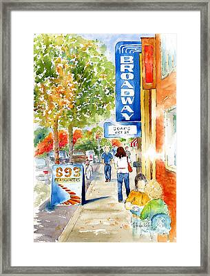 Broadway Theatre - Saskatoon Framed Print