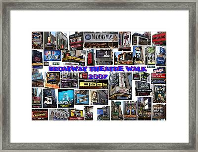 Broadway Theatre Walk 2007 Collage Framed Print