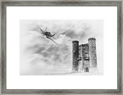 Broadway Tower Flyby Framed Print by Peter Chilelli