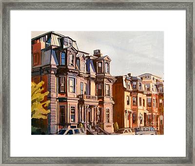 Broadway View Framed Print by Deb Putnam