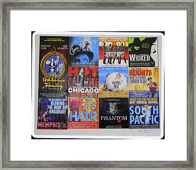 Broadway's Favorites Framed Print