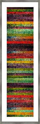Brocade And Stripes Tower 1.0 Framed Print by Michelle Calkins