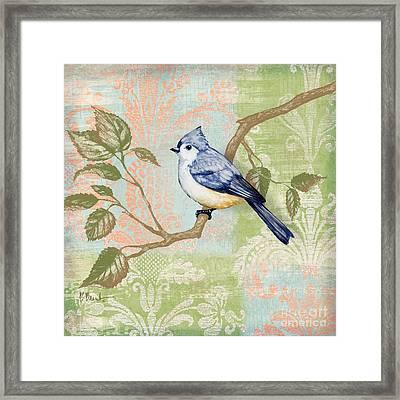 Brocade Songbird II Framed Print by Paul Brent