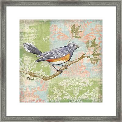 Brocade Songbird Iv Framed Print by Paul Brent